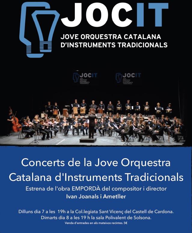 Cartell Concerts JOCIT 2015 Obra Empordà Ivan Joanals i Ametller